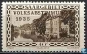 Vaubankazerne in Saarlouis with bossing VOLKSABSTIMMUNG 1935