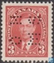 King George VI with perforation OHMS