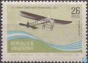 50 years 1st post flight between Argentina and Uruguay