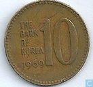 South Korea 10 won 1969