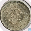 "Mexico 5 pesos 1957 ""100th anniversary of constitution"""
