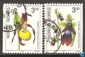Postage Stamps - Norway - Orchids