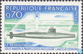 Postage Stamps - France [FRA] - Atomic submarine 'Redoutable'