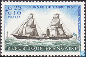 Postage Stamps - France [FRA] - Sailer