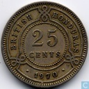 British Honduras 25 cents 1970