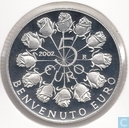 "San Marino 5 euro 2002 (PROOF) ""welcome to the euro"""