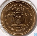 "Belize 1 cent 1974 (Matte) ""Avifauna of Belize - Swallow-tailed Kite"""