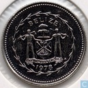 "Belize 10 cents 1978 (Special Uncirculated) ""Avifauna of Belize - Long-tailed Hermit"""