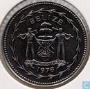 "Belize 25 cents 1978 (Special Uncirculated) ""Avifauna of Belize - Blue-crowned Motmot"""