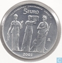 "San Marino 5 euro 2003 ""1700 years Republic of San Marino"""