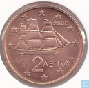 Coins - Greece - Greece 2 cent 2002 (without F)