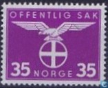 Postage Stamps - Norway - 1942 Bird Natonale Party 35