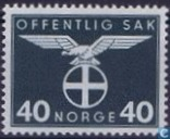 Postage Stamps - Norway - 1942 Bird Natonale Party 40
