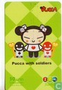 Pucca with Soldiers