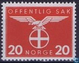 Postage Stamps - Norway - 1942 Bird Natonale Party 20