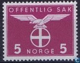 Postage Stamps - Norway - 1942 Bird Natonale Party 5