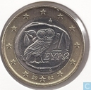 Coins - Greece - Greece 1 euro 2002 (without S)