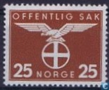 Postage Stamps - Norway - 1942 Bird Natonale Party 25
