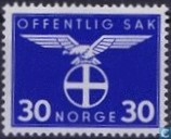 Postage Stamps - Norway - 1942 Bird Natonale Party 30