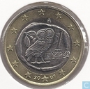 Coins - Greece - Greece 1 euro 2007