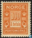 Postage Stamps - Norway - 1921 Port 100 a Payment