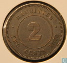 Maurice 2 cents 1878