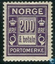 Postage Stamps - Norway - 1921 Port 200 a Payment
