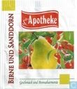 Tea bags and Tea labels - Apotheke - Birne und Sanddorn