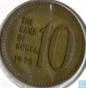 South Korea 10 won 1975