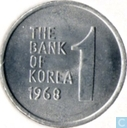Zuid-Korea 1 won 1968