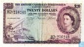 British Carribean Territories 20 Dollar