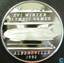 "Afghanistan 500 afghanis 1989 (PROOF -  thin letters) ""1992 Winter Olympics - Bobsledding"""