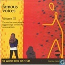 Famous Voices Volume  lll