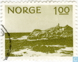 Postage Stamps - Norway - 100 green