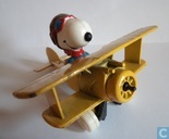 Snoopy in airplane