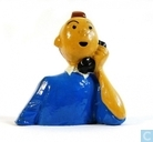Tintin on the phone