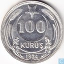 Turkey 100 kurus 1934 (high star)