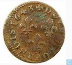 France Double Tournois 1643