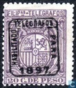 Coat of arms overprinted