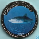 "Palau 1 dollar 2008 (PROOF) ""Endangered wildlife - Great White Shark"""