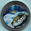 "Palau 1 dollar 2009 (PROOF) ""Endangered Wildlife Series - Clown Triggerfish"""
