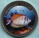 "Palau 1 dollar 2009 (PROOF) ""Endangered Wildlife - Sailfin Tang fish"""