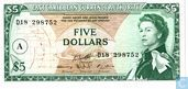 East Caribbean Currency Authority Antigua 5 dollars 1965