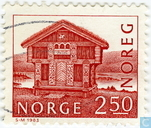 Postage Stamps - Norway - 250 Brown