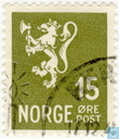 Postage Stamps - Norway -  Lion type II