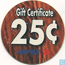 AAFES 25c 2001 Military Picture Pog Gift Certificate