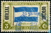 Air-mail stamps with overprint