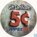 AAFES 5c 2001 Military Picture Pog Gift Certificate