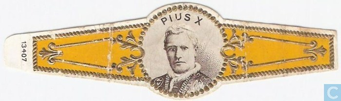 Cigar labels - Without brand - Pius X