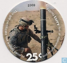 AAFES 25c 2009 Military Picture Pog Gift Certificate 13D251WO